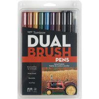 Tombow - Dual Brush Markers - Set of 10 - Muted