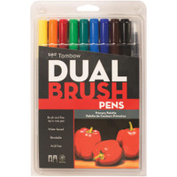 Tombow - Dual Brush Markers - Set of 10 - Primary