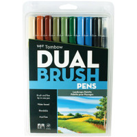 Tombow - Dual Brush Markers - Set of 10 - Landscape