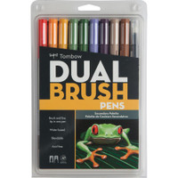 Tombow - Dual Brush Markers - Set of 10 - Secondary