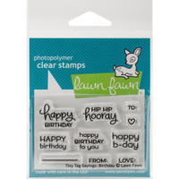 Lawn Fawn Clear Stamps - Tiny Tag Sayings Birthday