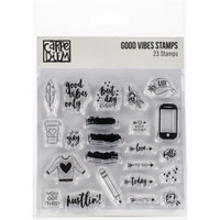 Carpe Diem - Simple Stories - Clear Stamps - Good Vibes