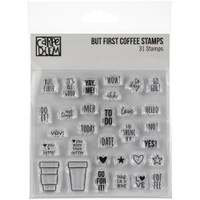 Carpe Diem - Simple Stories - Clear Stamps - But First Coffee