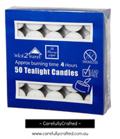 Tealight Candle 4Hr 50PC - White
