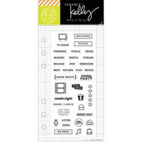 Hero Arts - Kelly Purkey Clear Stamps - TV Planner