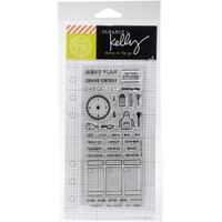 Hero Arts - Kelly Purkey Clear Stamps - Cooking Planner
