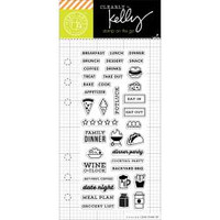 Hero Arts - Kelly Purkey Clear Stamps - Food Planner