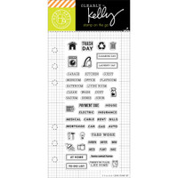 Hero Arts - Kelly Purkey Clear Stamps - Home Planner