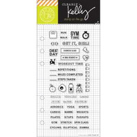 Hero Arts - Kelly Purkey Clear Stamps - Fitness Planner