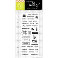 Hero Arts - Kelly Purkey Clear Stamps - School Planner