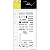 Hero Arts - Kelly Purkey Clear Stamps - Work Planner