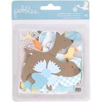 Pebbles - Lullaby Ephemera Cardstock Die-Cuts - Baby Boy - Set of 40