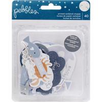 Pebbles - Night Night Baby Boy Ephemera Cardstock Die-Cuts - Set of 40