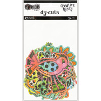 Dylusions - Dyan Reaveley's Dylusions Creative Dyary Die Cuts - Colored Birds & Flowers