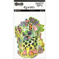 Dylusions - Dyan Reaveley's Dylusions Creative Dyary Die Cuts - Colored Animals