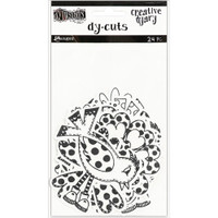 Dylusions - Dyan Reaveley's Dylusions Creative Dyary Die Cuts - Black & White Birds & Flowers