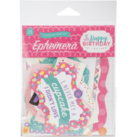 Echo Park Paper - Cardstock Ephemera Die-Cuts - Happy Birthday Girl