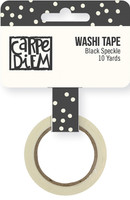 Carpe Diem - Simple Stories - Washi Tape - Black Speckle