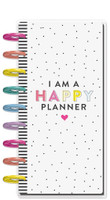 Me and My Big Ideas - Happy Notes - Half Sheet Notebook - I Am A Happy Planner (Lined)