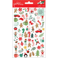 Pebbles - Mini Sticker Book - Merry Little Christmas
