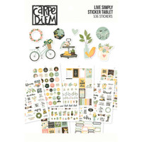 Carpe Diem - Simple Stories - A5 Sticker Book - Live Simply