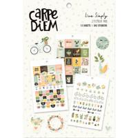 Carpe Diem - Simple Stories - A5 Sticker Book - Live Simply
