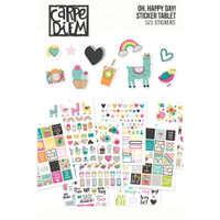 Carpe Diem - Simple Stories - A5 Sticker Book - Oh, Happy Day!