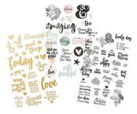 Carpe Diem - Simple Stories - Beautiful - Clear Stickers