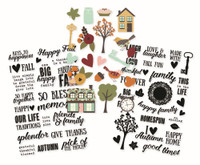 Carpe Diem - Simple Stories - Vintage Blessings - Clear Stickers