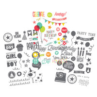 Carpe Diem - Simple Stories - Let's Party - Clear Stickers