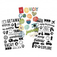 Carpe Diem - Simple Stories - Travel Notes - Clear Stickers