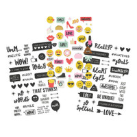 Carpe Diem - Simple Stories - Emoji Love - Clear Stickers