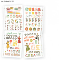 Carpe Diem - The Reset Girl - Icon Stickers - 8 Sheets