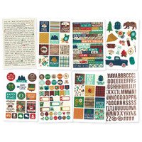 Carpe Diem - Simple Stories - Cabin Fever Stickers - 8 Sheets