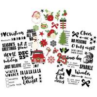 Carpe Diem - Simple Stories - Very Merry - Clear Stickers