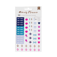 American Crafts - Memory Planner - Icon Stickers