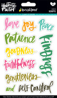 Illustrated Faith - Fruit of the Spirit - Clear Stickers - Scripts