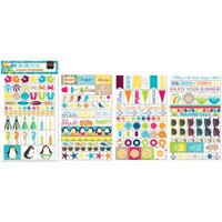 BoBunny - Clear Planner Stickers - Make a Splash