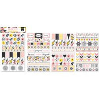 BoBunny - Clear Planner Stickers - Petal Lane