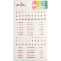 Creative Devotion - Clear Planner Stickers - Faith