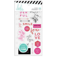 Heidi Swapp - Memory Planner Clear Stickers - Fresh Start, Elegant