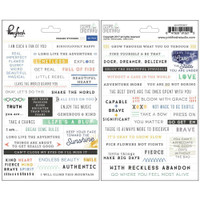 Pinkfresh Studio - Cardstock Planner Stickers - Escape the Ordinary