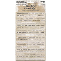 Tim Holtz - Idea-Ology Clippings Stickers - Christmas