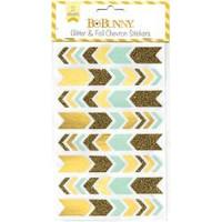 BoBunny - Glitter & Foil Chevron Stickers