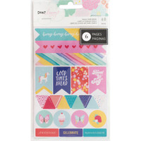 American Crafts - Dear Lizzy - Stay Colorful Washi Tape Stickers