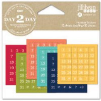 Jillibean Soup - Planner Number Stickers