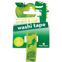 Paper House - Scratch & Sniff Washi Tape - Green Apple Dinosaurs