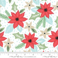 Moda Fabric - Little Tree - Lella Boutique - Bouquet White #5091 11