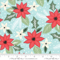 Moda Fabric - Little Tree - Lella Boutique - Bouquet Aqua #5091 16