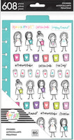 The Happy Planner - Me and My Big Ideas - Dashboard Stickers - Stick Figure Girls